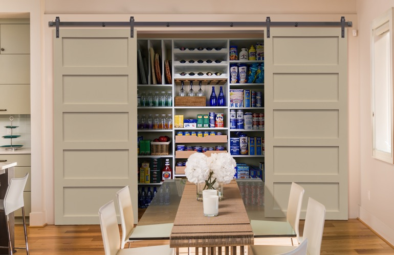 Sliding Barn Doors On A Indianapolis Pantry