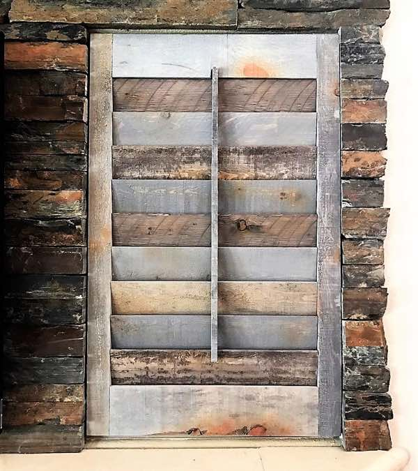Indianapolis reclaimed wood shutter