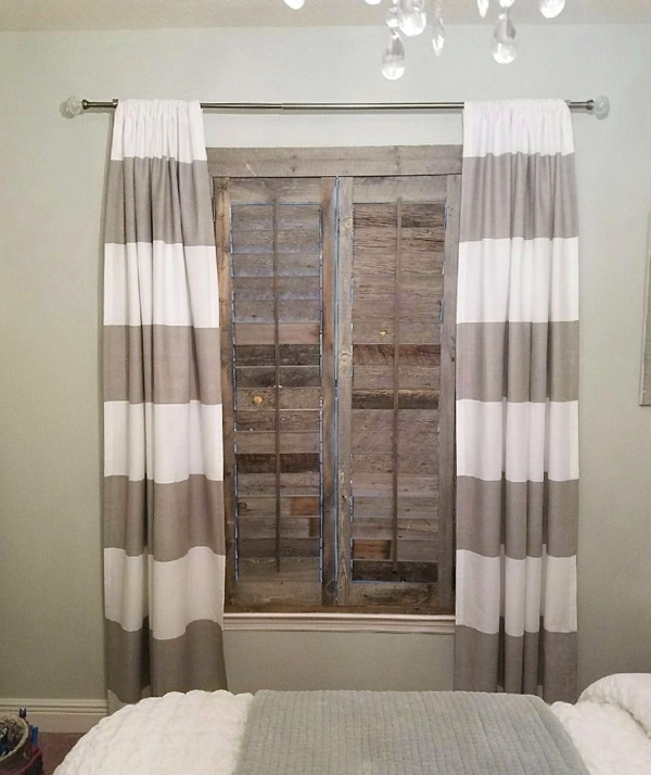 Indianapolis reclaimed wood shutter bedroom