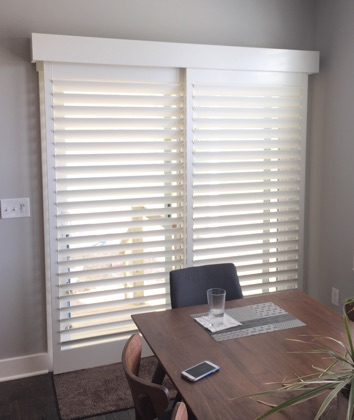 Indianapolis modern sliding door shutters