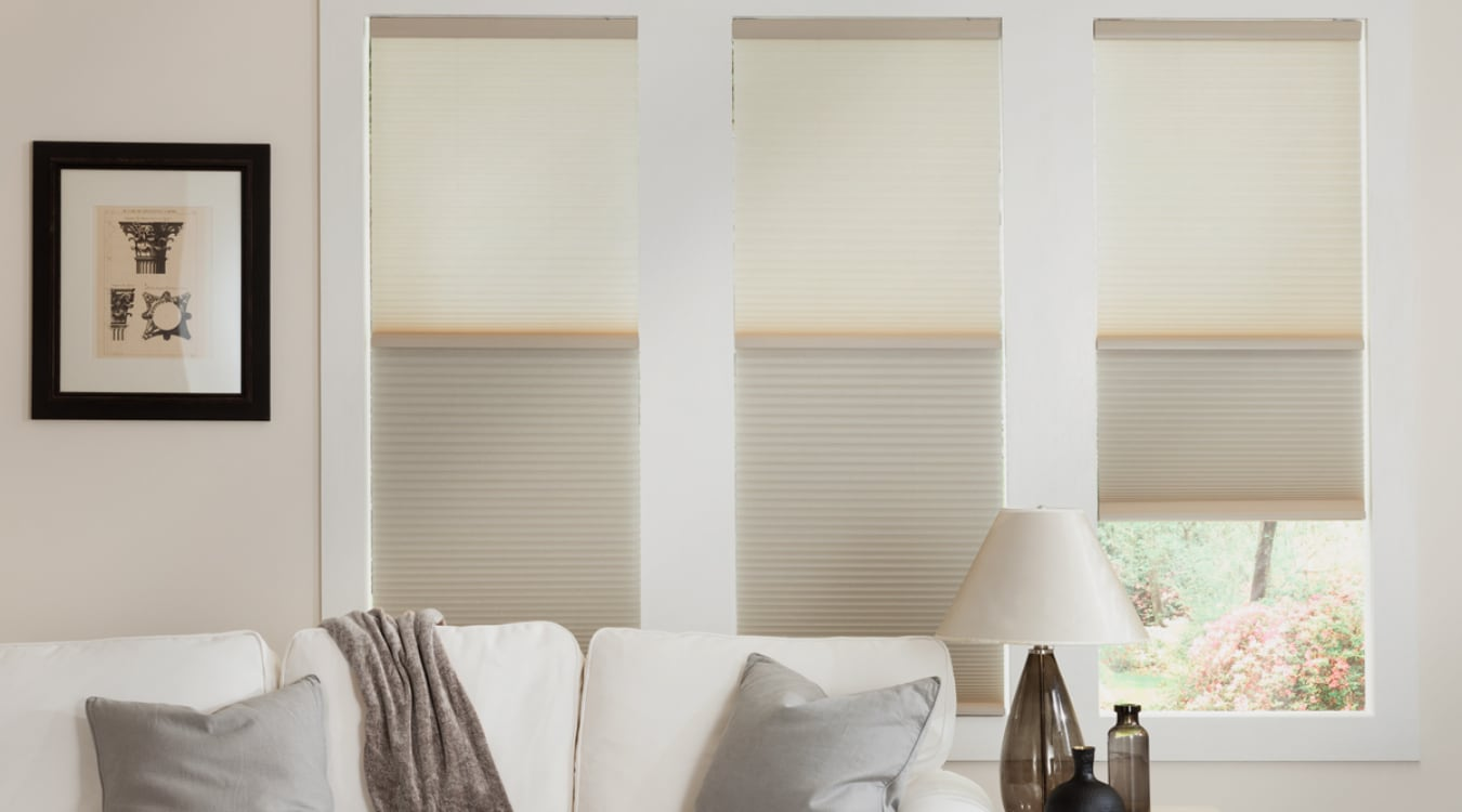 Cellular shades in a Indianapolis living room