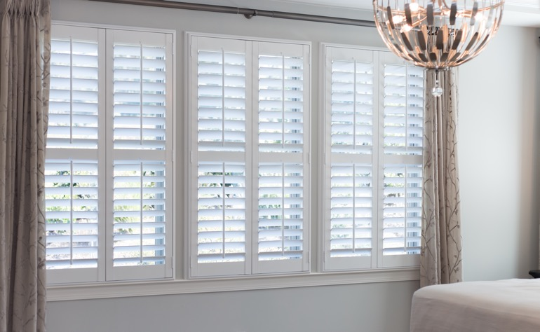 Indianapolis plantation shutters bedroom