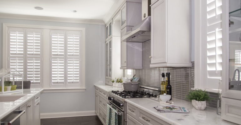 Indianapolis kitchen white shutters