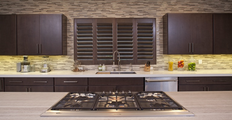 Indianapolis wood shutter kitchen