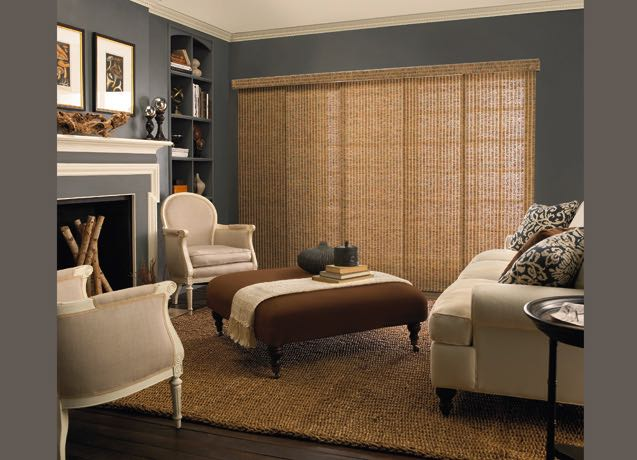 Indianapolis living room panel track blinds