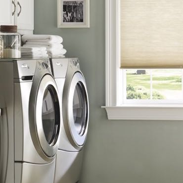 Indianapolis laundry room cellular shades.