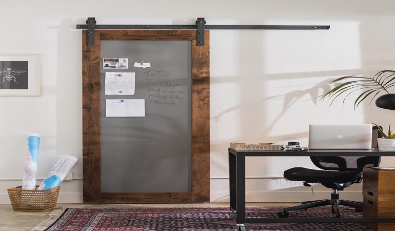 Indianapolis home office barn door