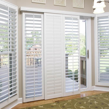 Indianapolis Sliding Patio Door Shutters