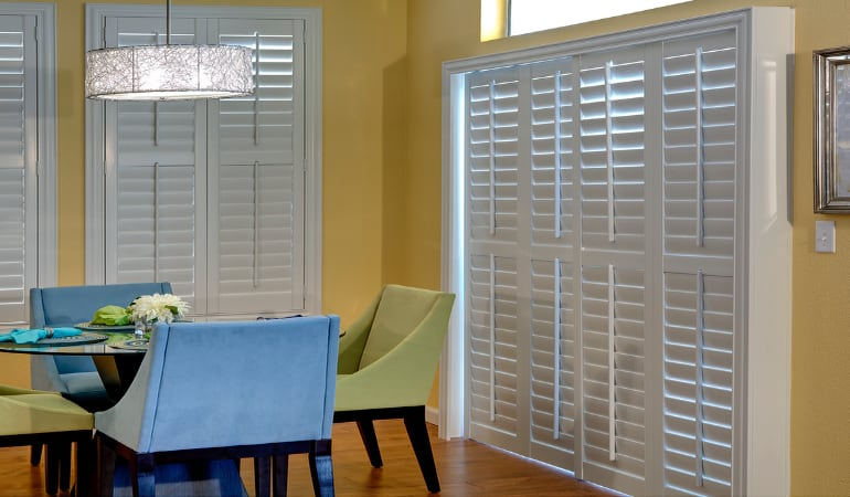 Patio Doors with Plantation Shutters in Indianapolis
