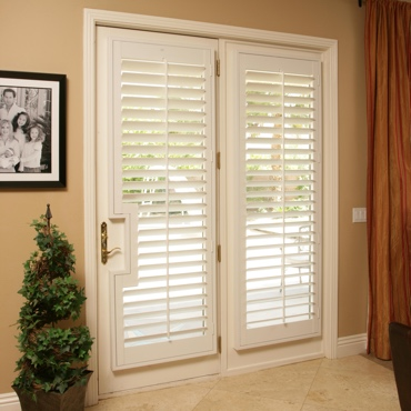 Patio French Door Shutters Indianapolis