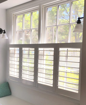 Indianapolis faux wood cafe shutters