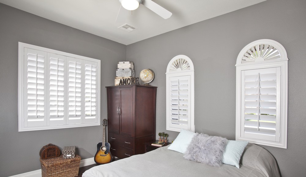 Polywood Shutters In A Indianapolis Bedroom