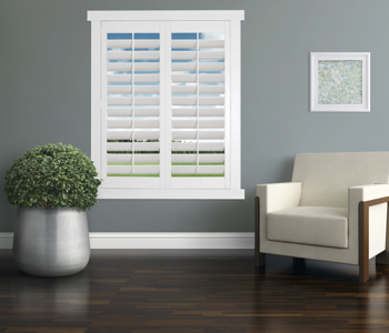 Polywood Shutters in Indianapolis living room