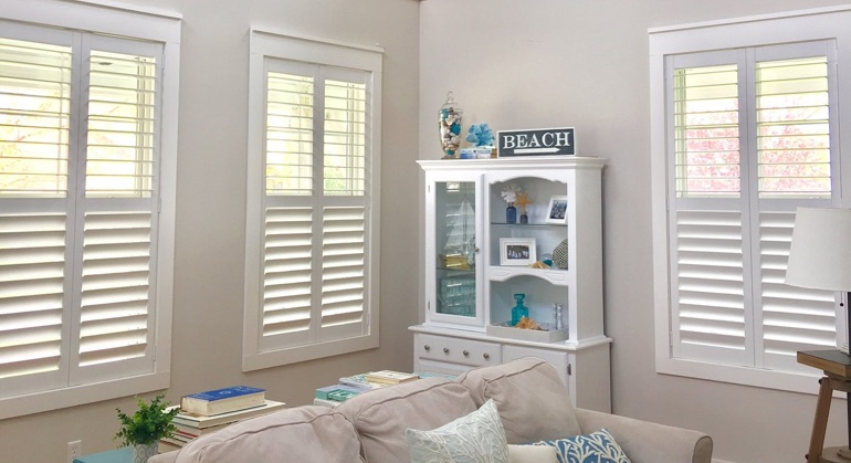 plantation shutters in Indianapolis sunroom