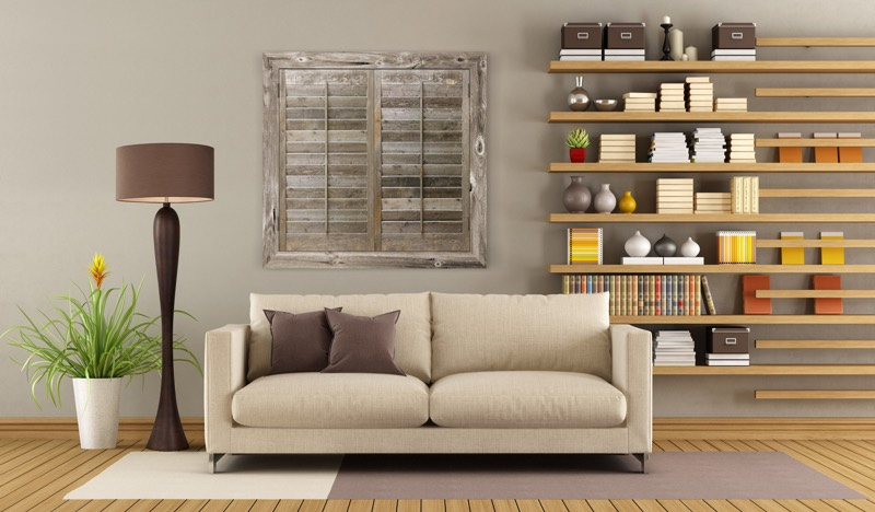 Reclaimed Wood Shutters In A Indianapolis Home - 8 Uses For Reclaimed Wood In Your Indianapolis Home Sunburst