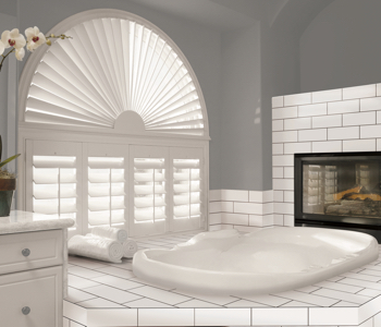 Shutters in Indianapolis bathroom