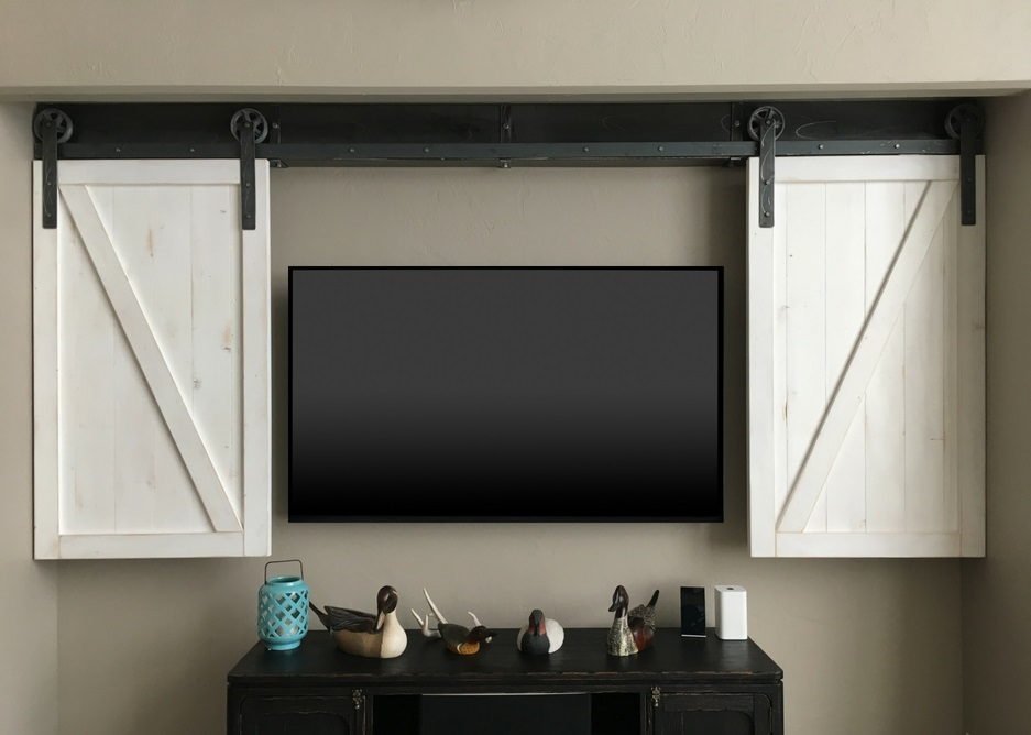 Indianapolis tv shutter barn door