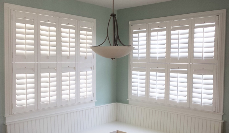 Indianapolis plantation shutters in booth