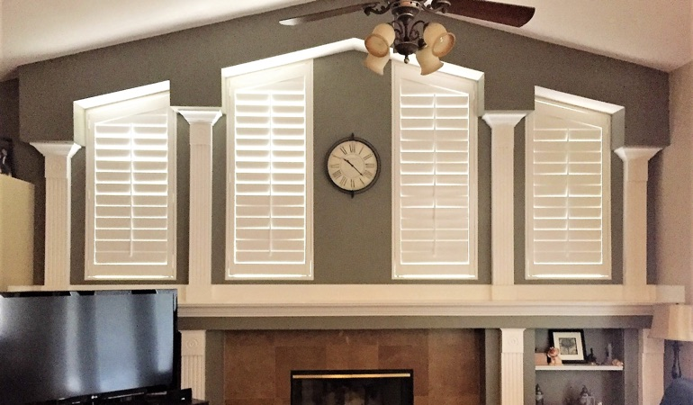 Polywood Shutters in Family Room in Indianapolis