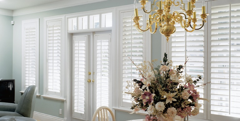 Indianapolis sunroom polywood shutters