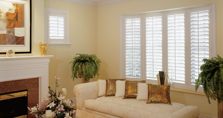 Indianapolis living room shutters
