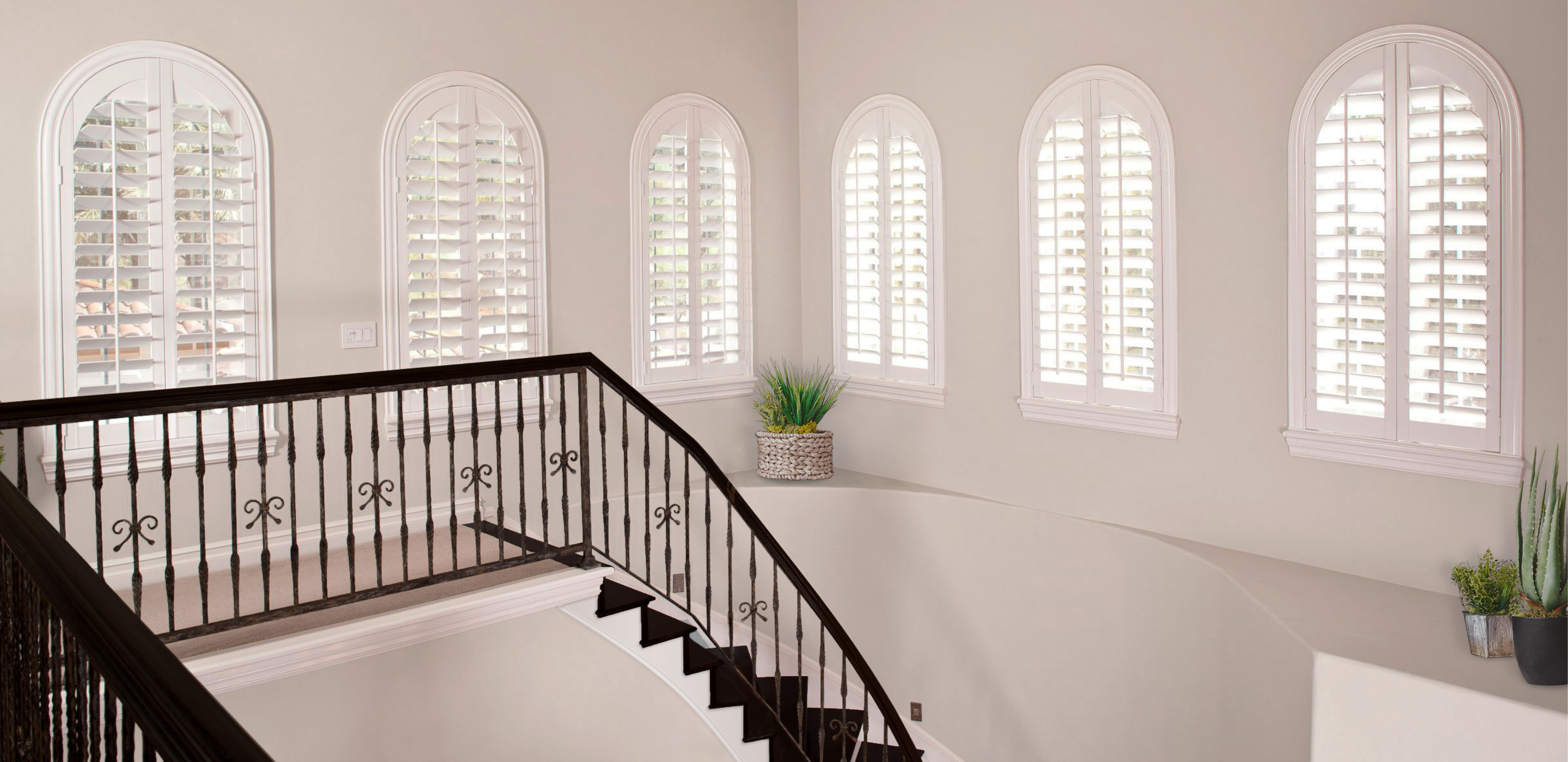 Arched Plantation Shutters