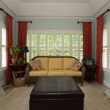 Indianapolis sunroom polywood shutters.