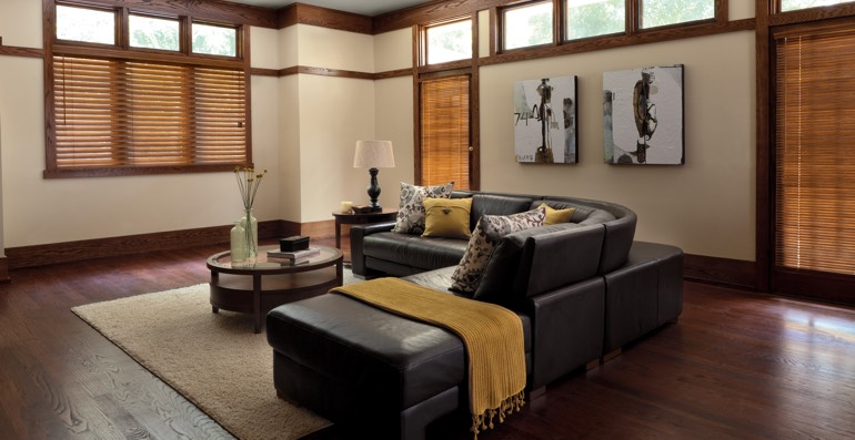 Indianapolis hardwood floor and blinds