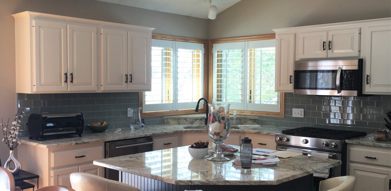 Indianapolis kitchen with shutters and appliances