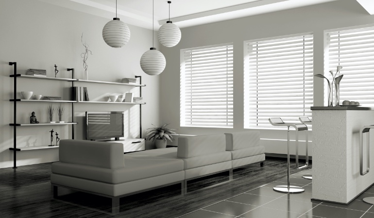 white blinds in Indianapolis