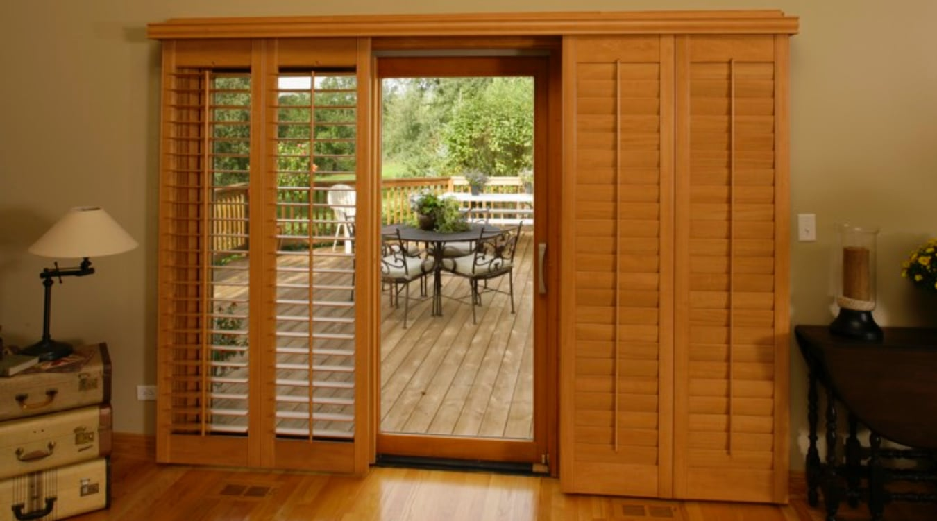 Sliding Glass Door Shutter In Indianapolis