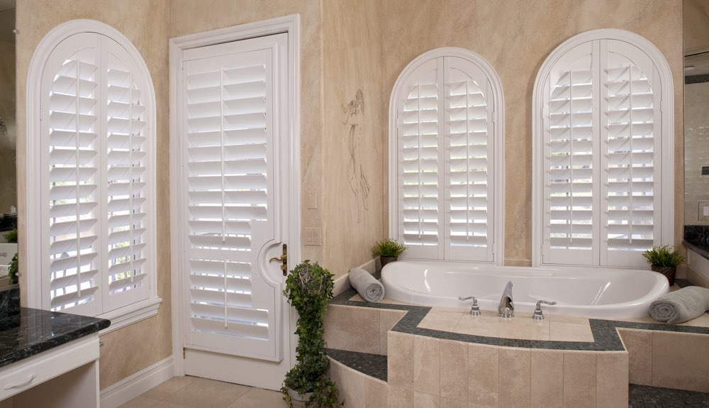 Arched Shutters In A Indianapolis Bathroom
