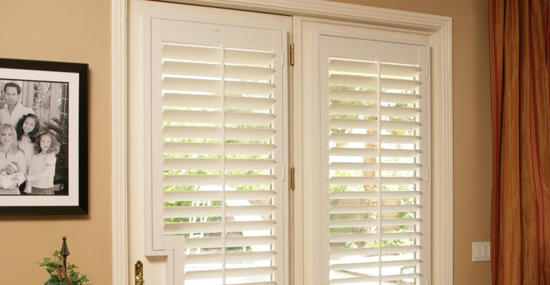 Indianapolis french door plantation shutters