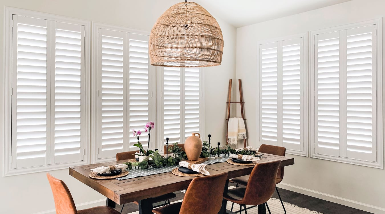 White Polywood Shutters For Indianapolis Kitchens