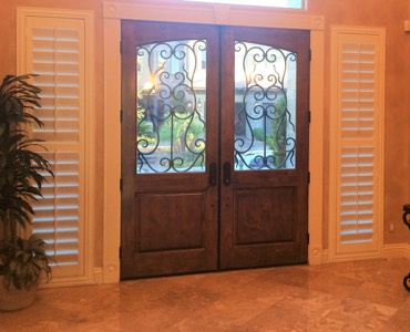 Indianapolis sidelight window treatment shutter
