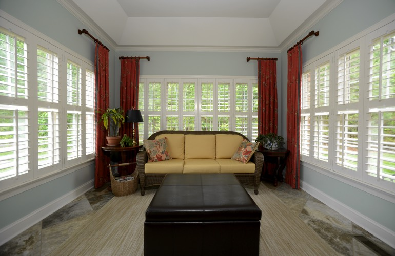 Plantation Shutters In A Indianapolis Sunroom